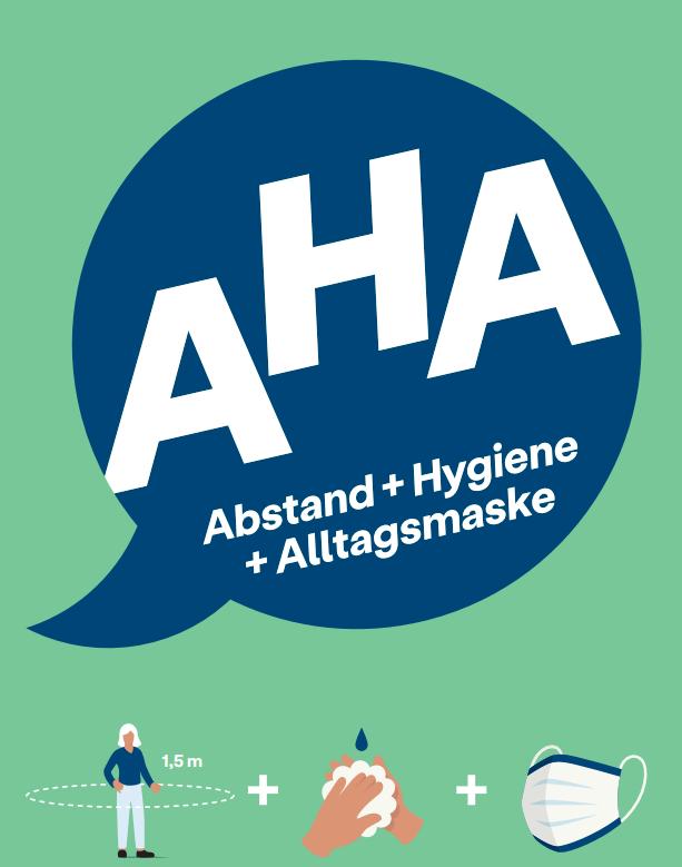AHA-Regeln, Gesundheit, Hygiene, Abstand, Alltagsmaske, Coronavirus